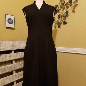 Antonio Melani Size 6 Black Dress in Charcoal Gray